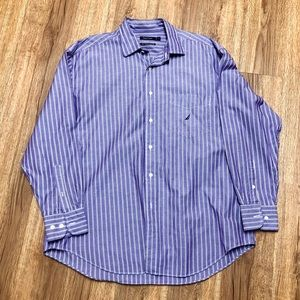 Nautica✨Lavender Button Down Shirt EUC